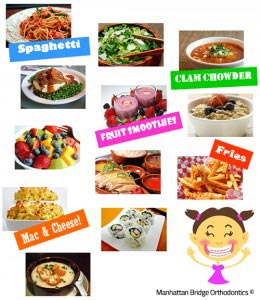OK foods to eat while in braces