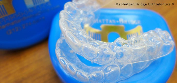 Clear retainers offered at Manhattan Bridge Orthodontics