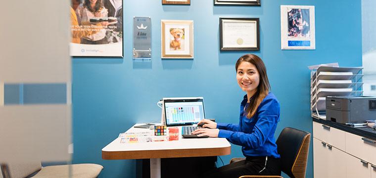 Front desk team at Manhattan Bridge Orthodontics