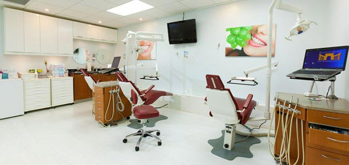 Orthodontic treatment area at Manhattan Bridge Orthodontics